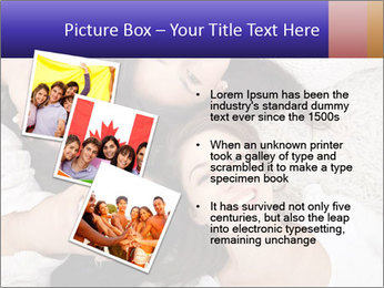 Group of women lying PowerPoint Template - Slide 17