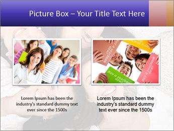Group of women lying PowerPoint Template - Slide 18