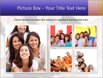 Group of women lying PowerPoint Template - Slide 19