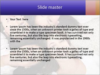Group of women lying PowerPoint Template - Slide 2