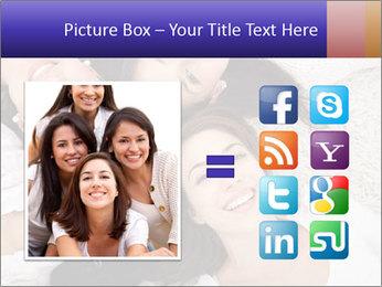 Group of women lying PowerPoint Template - Slide 21