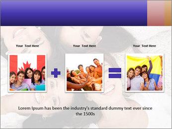 Group of women lying PowerPoint Template - Slide 22