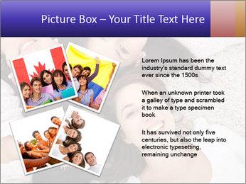 Group of women lying PowerPoint Template - Slide 23