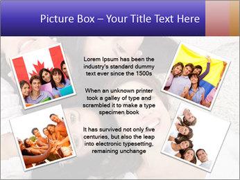 Group of women lying PowerPoint Template - Slide 24