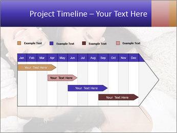 Group of women lying PowerPoint Template - Slide 25