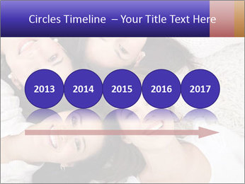 Group of women lying PowerPoint Template - Slide 29