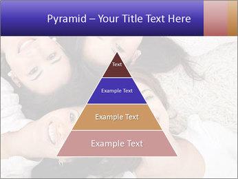 Group of women lying PowerPoint Template - Slide 30