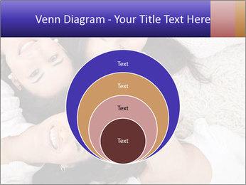 Group of women lying PowerPoint Template - Slide 34