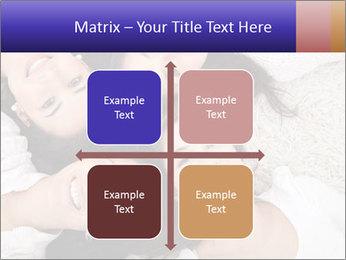 Group of women lying PowerPoint Template - Slide 37