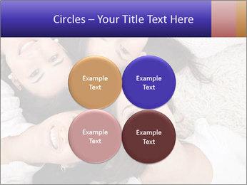 Group of women lying PowerPoint Template - Slide 38