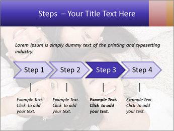 Group of women lying PowerPoint Template - Slide 4