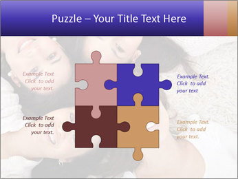 Group of women lying PowerPoint Template - Slide 43
