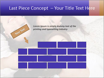 Group of women lying PowerPoint Template - Slide 46