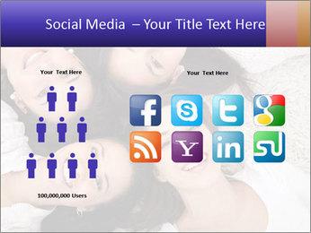 Group of women lying PowerPoint Template - Slide 5