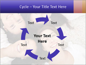 Group of women lying PowerPoint Template - Slide 62