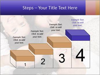 Group of women lying PowerPoint Template - Slide 64
