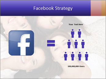 Group of women lying PowerPoint Template - Slide 7