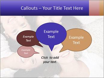 Group of women lying PowerPoint Template - Slide 73