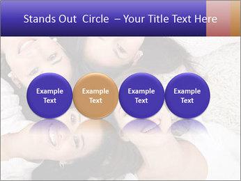 Group of women lying PowerPoint Template - Slide 76
