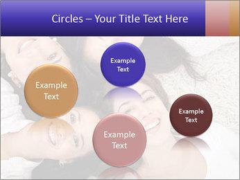 Group of women lying PowerPoint Template - Slide 77