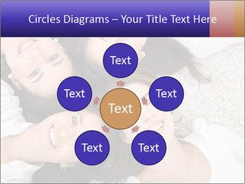 Group of women lying PowerPoint Template - Slide 78