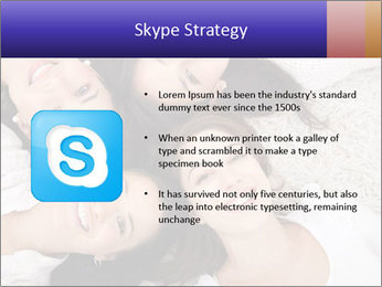 Group of women lying PowerPoint Template - Slide 8