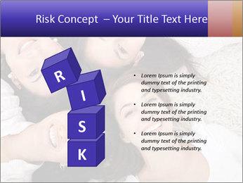 Group of women lying PowerPoint Template - Slide 81