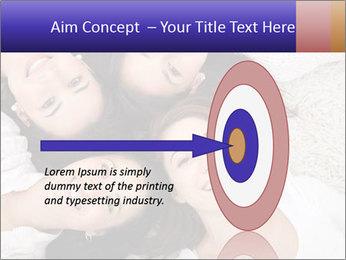 Group of women lying PowerPoint Template - Slide 83