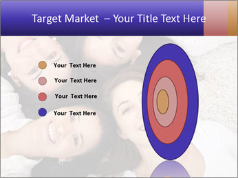 Group of women lying PowerPoint Template - Slide 84