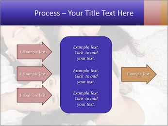 Group of women lying PowerPoint Template - Slide 85