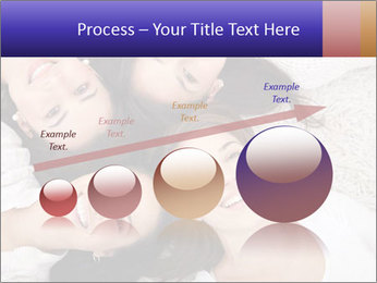 Group of women lying PowerPoint Template - Slide 87