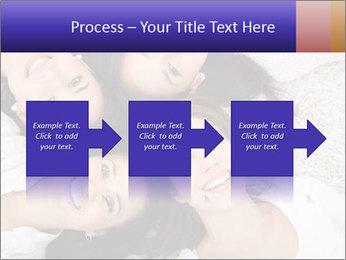 Group of women lying PowerPoint Template - Slide 88