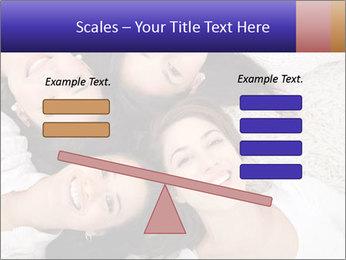 Group of women lying PowerPoint Template - Slide 89