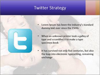 Group of women lying PowerPoint Template - Slide 9