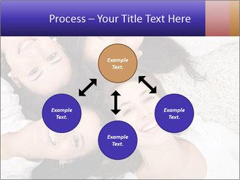 Group of women lying PowerPoint Template - Slide 91