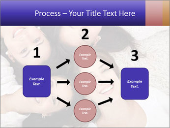Group of women lying PowerPoint Template - Slide 92