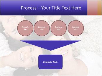 Group of women lying PowerPoint Template - Slide 93