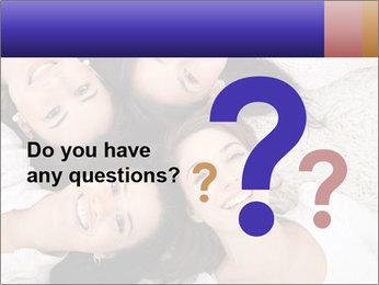 Group of women lying PowerPoint Template - Slide 96