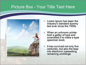 Young woman sitting PowerPoint Template - Slide 13