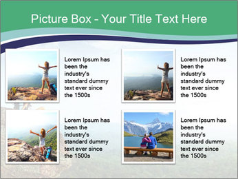 Young woman sitting PowerPoint Template - Slide 14
