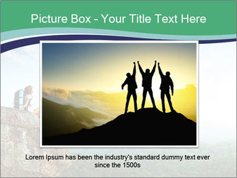 Young woman sitting PowerPoint Template - Slide 15