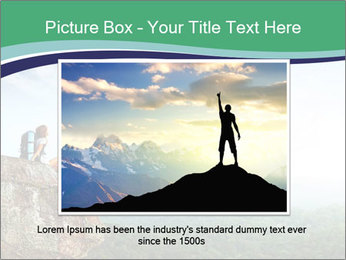 Young woman sitting PowerPoint Template - Slide 16