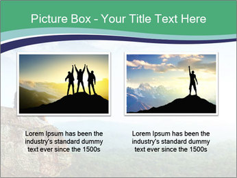Young woman sitting PowerPoint Template - Slide 18
