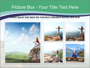 Young woman sitting PowerPoint Template - Slide 19