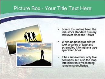 Young woman sitting PowerPoint Template - Slide 20