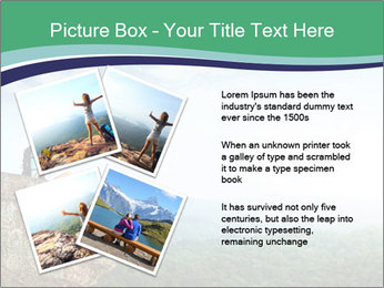 Young woman sitting PowerPoint Template - Slide 23