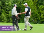 Golfers shake hands PowerPoint Templates