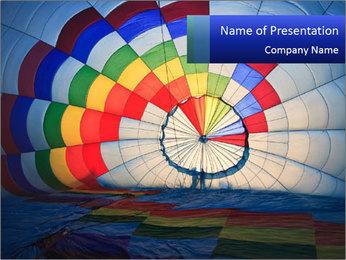 Hot air balloon PowerPoint Template - Slide 1