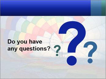 Hot air balloon PowerPoint Template - Slide 96