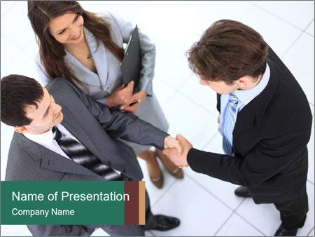 Business handshake PowerPoint Template